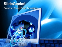 Space Computer PowerPoint Themes And PowerPoint Slides 0211