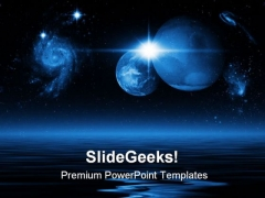 Space Earth PowerPoint Background And Template 1210