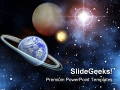 Space Science PowerPoint Template 0610