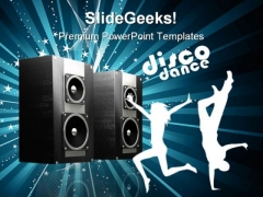 Speakers Music PowerPoint Themes And PowerPoint Slides 0911