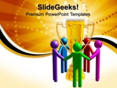 Spectrum Trophy Success PowerPoint Templates And PowerPoint Themes 0712