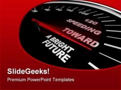 Speeding Towards Future PowerPoint Themes And PowerPoint Slides 0811
