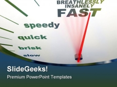 Speedometer Slow To Fast Travel PowerPoint Themes And PowerPoint Slides 0911
