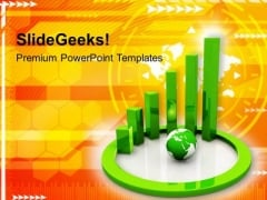 Spiral Bar Graph With Global Business PowerPoint Templates Ppt Backgrounds For Slides 0213