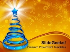Spiral Christmas Tree With Christmas PowerPoint Templates Ppt Backgrounds For Slides 1112