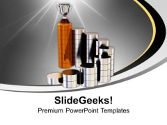 Spiral Stairs And Trophy On The Top Business PowerPoint Templates And PowerPoint Themes 1112