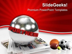 Sport News Game PowerPoint Templates And PowerPoint Backgrounds 0611
