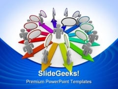Spreading The Word Communication PowerPoint Backgrounds And Templates 1210