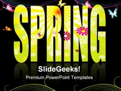 Spring Abstract Background PowerPoint Themes And PowerPoint Slides 0811