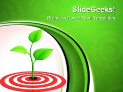 Sprout On Target Business PowerPoint Themes And PowerPoint Slides 0811