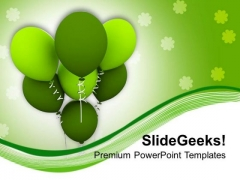 St Patricks Day Balloons Holiday PowerPoint Templates Ppt Backgrounds For Slides 0313