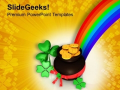 St Patricks Day Celebration Background PowerPoint Templates Ppt Backgrounds For Slides 0313