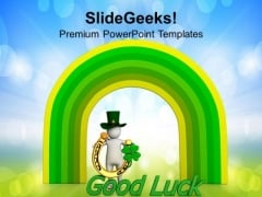 St Patricks Day Irish Luck PowerPoint Templates Ppt Backgrounds For Slides 0313