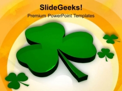 St Patricks Day Shamrock PowerPoint Templates Ppt Backgrounds For Slides 0313