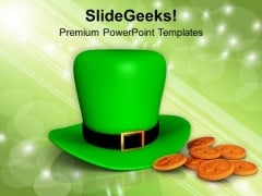 St Patricks Hat Irish Wealth PowerPoint Templates Ppt Backgrounds For Slides 0313