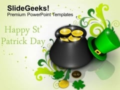 Sta Patricks Day Elements And Greetings PowerPoint Templates Ppt Backgrounds For Slides 0213
