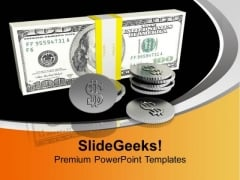 Stack Of Dollar Bills Finance PowerPoint Templates Ppt Backgrounds For Slides 0113