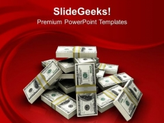 Stack Of Dollars Money Finance PowerPoint Templates And PowerPoint Themes 1112