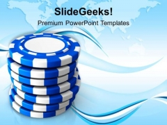 Stack Of Poker Chips For Gambling Success PowerPoint Templates Ppt Backgrounds For Slides 0413