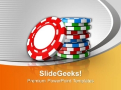 Stack Of Poker Chips Gambling PowerPoint Templates Ppt Backgrounds For Slides 0113