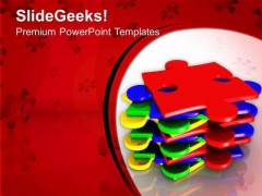 Stack Of Puzzles For Business Growth PowerPoint Templates Ppt Backgrounds For Slides 0513