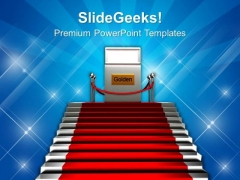 Stairs And Red Carpet Success PowerPoint Templates Ppt Backgrounds For Slides 0113