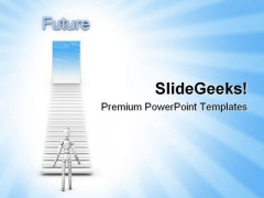 Stairs To Future Success PowerPoint Themes And PowerPoint Slides 0811