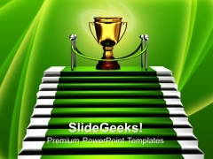 Stairs With Trophy Success PowerPoint Templates And PowerPoint Themes 0712