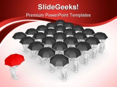 Stand Out From Crowd Business PowerPoint Backgrounds And Templates 1210