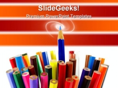 Standing Out Pencil Education PowerPoint Templates And PowerPoint Backgrounds 0311