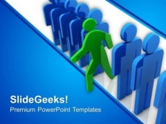 Standout From Queue For Success PowerPoint Templates Ppt Backgrounds For Slides 0413