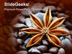 Star And Coffee Beans Food PowerPoint Templates And PowerPoint Backgrounds 0411