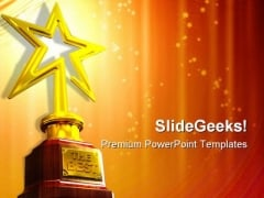 Star Award Entertainment PowerPoint Templates And PowerPoint Backgrounds 0211
