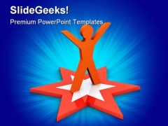 Star Employee Business PowerPoint Themes And PowerPoint Slides 0211