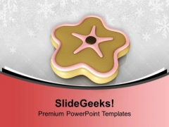 Star Shaped Cookie Birthday Time PowerPoint Templates Ppt Backgrounds For Slides 0113