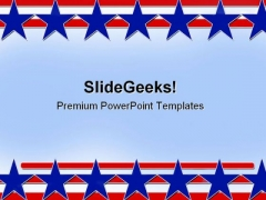 Stars And Stripes Abstract Background PowerPoint Themes And PowerPoint Slides 0811
