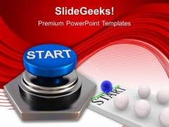 Start Button Leadership Business PowerPoint Templates Ppt Backgrounds For Slides 1112