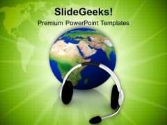 Start Global Communication PowerPoint Templates Ppt Backgrounds For Slides 0713