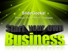 Start Your Own Business Metaphor PowerPoint Backgrounds And Templates 1210
