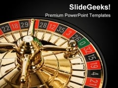 Static Roulette With Ball Sports PowerPoint Background And Template 1210