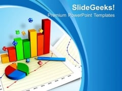 Statistical Graph Illustration PowerPoint Templates Ppt Backgrounds For Slides 0713