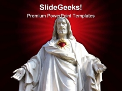 Statue Of Jesus Religion PowerPoint Templates And PowerPoint Backgrounds 0811