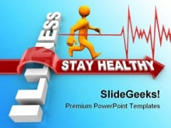 Stay Healthy Medical PowerPoint Backgrounds And Templates 1210