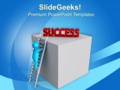 Stepping On The Rungs Of Opportunity Success PowerPoint Templates Ppt Backgrounds For Slides 0813