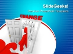 Stepping Through Change Metaphor PowerPoint Themes And PowerPoint Slides 0811