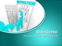Stepping Through Motivation Business PowerPoint Themes And PowerPoint Slides 0811