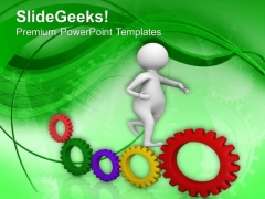 Stepping Towards Mechanical Development PowerPoint Templates Ppt Backgrounds For Slides 0513