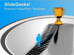 Stepping Towards The Goal Leadership Concept PowerPoint Templates Ppt Backgrounds For Slides 0313