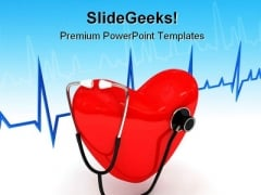 Stethoscope Medical PowerPoint Template 0910