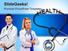 Stethoscope With Health Medical PowerPoint Templates And PowerPoint Backgrounds 0311